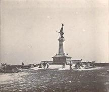 Photo Ancienne Originale Animée  Monument   Kellermann à Valmy 1914 1918 Ww1 Grande Guerre - Guerre, Militaire