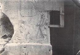 Photo Ancienne Originale Ex Voto Militaire Sculpté  1914 1918 Ww1 Grande Guerre - Guerre, Militaire