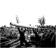 Photo Ancienne Originale Camouflage Faux Canon En Bois Ou Carton 2 Poilus  1914 1918 Ww1 Grande Guerre - Guerre, Militaire