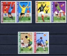 Sao Tome E Principe, 1982, Soccer World Cup Spain, Football, MNH, Michel 754-759A - Sao Tome En Principe