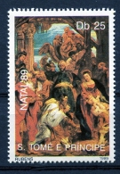 Sao Tome E Principe, 1989, Christmas, Natal, Paintings, Rubens, MNH, Michel 1154 - Sao Tome En Principe