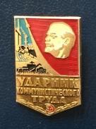 Shock Worker Of Communist Labor, Russia. - Badges