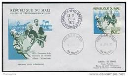 ALBERT SCHWEITZER / NOBEL - 1975 MALI ENVELOPPE FDC (ref 3947)