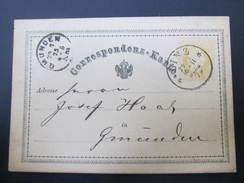 GANZSACHE Linz - Gmunden 1873//  D*22041 - 1850-1918 Imperium