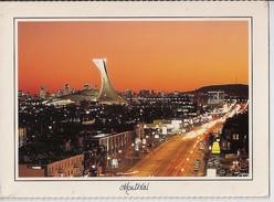 MONTREAL  La Rue Sherbrooke Et Le Stade Au Crepuscule - Montreal