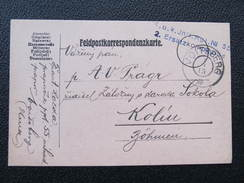 Feldkorrespondenzkarte VOITSBERG - Kolin Feldpost 1915  //  D*22045 - Briefe U. Dokumente