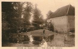 (9) CPA  Nepmes Par Belabre  Vieux Moulin Sur L' Allemette   (bon Etat) - Frankrijk