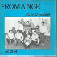 """45 Tours SP - ROMANCE  - F.L.V.M. 45123 -  """" FOLLE DE MUSIQUE """" + 1 ( Groupe De MONTMORENCY 95550 ) - Vinyles"""