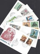 SAINT-MARIN - Six Enveloppes Premier Jour Europa - 4 Scans - B/TB - - FDC