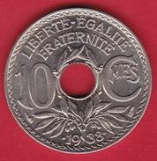 France 10 Centimes Lindauer 1938 - FDC - D. 10 Centimes