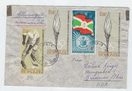 Burundi/Germany ICE HOCKEY OLYMPIC TORCH GAMES COVER 1964