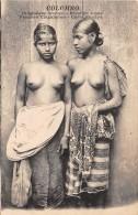 ETHNIQUE - ASIE / Ceylon - Colombo - Jeunes Filles - Seins Nus - Sri Lanka (Ceylon)