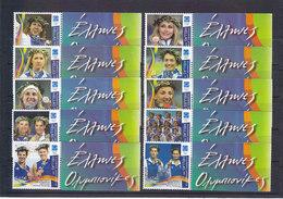 Greece 2004 : Greece Olympics Games Athens 2004 Medalists Full Set, With RARE Sampanis / MNH - Greece