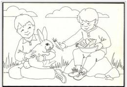 Irlanda/Ireland/Irlande: Intero, Stationery, Entier, Fanciulli, Children, Enfants, Coniglio, Rabbit, Lapin