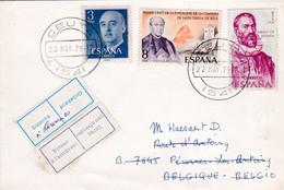 Spanje : Gelopen Briel CEUTA   Naar Belgie - 1931-Aujourd'hui: II. République - ....Juan Carlos I