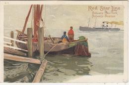 Red Star Line - Antwerp-New York - Antwerp-Boston - Ill. Cassiers H-1 - Autres Illustrateurs