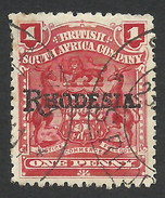 Rhodesia, British South Africa Company, 1 P, 1909, Sc # 83, Mi # 83, Used.. - Great Britain (former Colonies & Protectorates)
