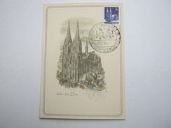 1948 , 5 Pfg. Bauten , Maximumkarte Aus Köln - American/British Zone