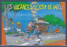 = Les Vacances C'est Le Pied, C'est Chouette Les Vacances, Peinture De John Lodi - Humour