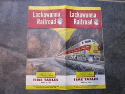 LACKAWANNA RAILROAD  -  TIME TABLES - World