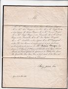 22 JUIN 1858 LETTRE DEUIL BERGER N°13 PC 3146 ST LAURENT DECHAMOUSSET POUR BEAUJEU - Storia Postale