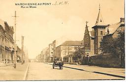 CPA - PK - AK   MARCHIENNE AU PONT  Rue De Mons  ( Attelage , Tram ) - Charleroi
