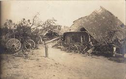 Photo Carte Postale Ruines D'un Village Front De L'yser Guerre 14-18 - Guerre, Militaire