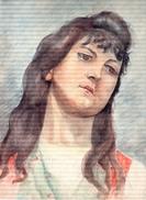 Portrait Aquarelle.98.dimensions :33 X 24,4 Cm.1898. - Aquarelles