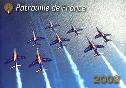 Armée Air Patrouille De France Présentation Membres Et Programme 2002 Alpha Jet - Aviation