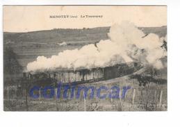 (n°531)  CPA 39 MENOTEY Le Tramway  1912 TTB - Autres Communes