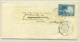 Nederlands Indië - 1946 - 5 Cent Kustlandschap, Enkelfrankering Op Compleet Drukwerk Noodstempel  Batavia/3 - Netherlands Indies