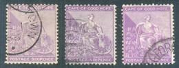 Cape Of Good Hope 1884-90. 6d Shades As Listed (wmk.Anchor). SACC 47+a+b, SG 52+a+b. - Südafrika (...-1961)