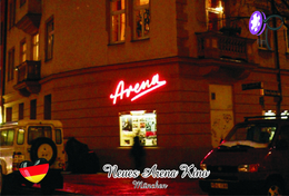 Carte Postale, Salle De Spectacles, Movie Theatre In Germany, München,  Neues Arena Kino - Cinema