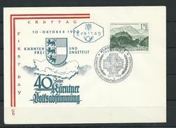 Österreich 1960  FDC  40 Jahre Volksabstimmung In Kärnten - FDC
