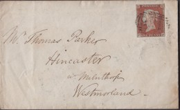 """1845 Envelope To """"Thomas Parker, Hincaster"""" With A 3-margin 1d Red & 'Bolton-le-Sands/Penny Post' Pmk.  Ref 0171 - Postmark Collection"""