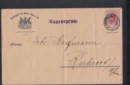 Dt. Reich Umschlag Rosengart & Wolf Ulm A.d. Donau Warenprobe - Interi Postali