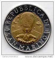 SAN MARINO 500 LIRE 1996 BIMETALLICA - San Marino