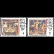CYPRUS 1997 HOLY PASSIONS EASTER MNH SET - Chypre (République)