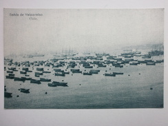 Postcard Bahia De Valparaiso Chile ( Sailing Ships ) By Allan Phillip My Ref B1511 - Chile