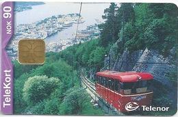 Norway - Telenor - Cable Car - N-178 - 06.2000, 30.000ex, Used - Norwegen