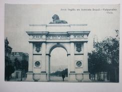 Postcard Arco Ingles En Avenida Brasil Valparaiso Chile By Allan Phillip My Ref B1512 - Chile