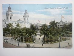 Postcard Lima Plaza De Armas Peru By Luis Sablich Callao My Ref B1513 - Peru