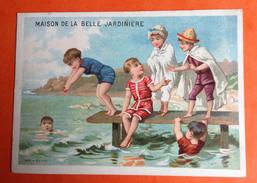 Paris Maison Belle JARDINIERE PONT NEUF CHROMO SICARD Sport Natation Nage Baigneuse Plongeon - Autres