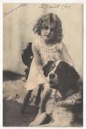 Chien Et Petite Fille - KSPM 306 - 1903 - Dogs
