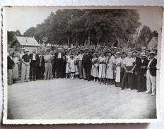 CHATILLON-SUR-INDRE - Société De Pêche Grande Photo De Groupe (argentique 17 Cm X 12 Cm ) Vers 1930-1940 - Lieux