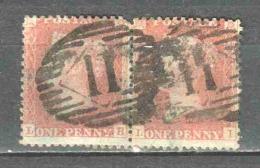 Great Britain 1856 Mi 10Bx In Pair Canceled - 1840-1901 (Victoria)