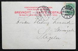Denmark 1904 Cards Ingemanns ø From Sorø Two Slagelse 29-8-1904  ( Lot 5679) - 1864-04 (Christian IX)