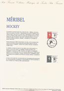 DOCUMENT ENCART 1991 OLYMPIQUE MERIBEL HOCKEY - Documents De La Poste