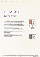 DOCUMENT ENCART 1991 OLYMPIQUE LES SAISIES SKI DE FOND - Documents De La Poste