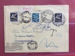 GENOVA POSTA AEREA ESTERO  BUSTA PER LA ROMANIA RITORNATA AL MITTENTE  SEGNO TASSA  DEL 12/1/1941 NON COMUNE - Poststempel